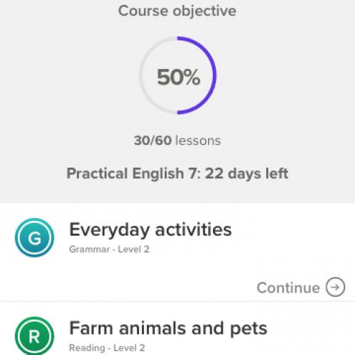 Course Screen Shot